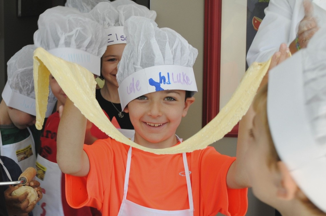 cooking canvas kid pasta class